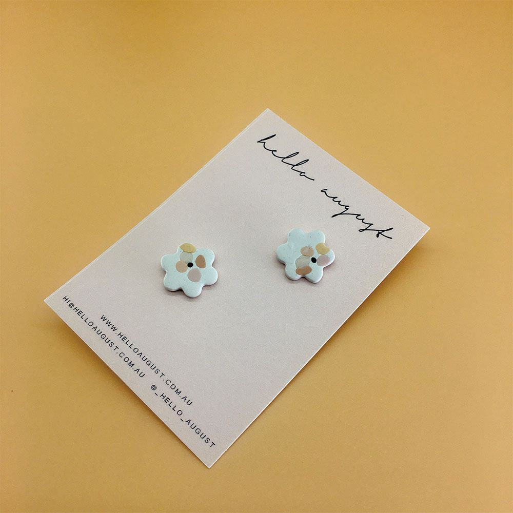 HELLO AUGUST: Claire - Small Flower Earrings