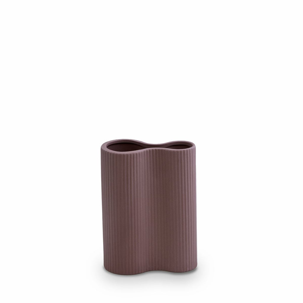 MARMOSET FOUND: Ribbed Infinity Vase Plum (S)