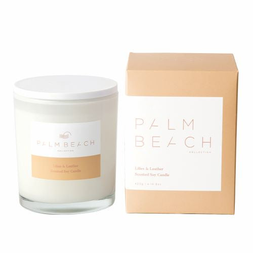 PALM BEACH: Candle - Lilies & Leather