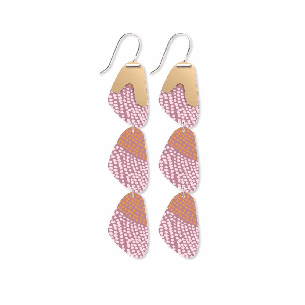 MOE MOE DESIGN: Organic Akweke Stories -  Organic Pippi Drop Earrings