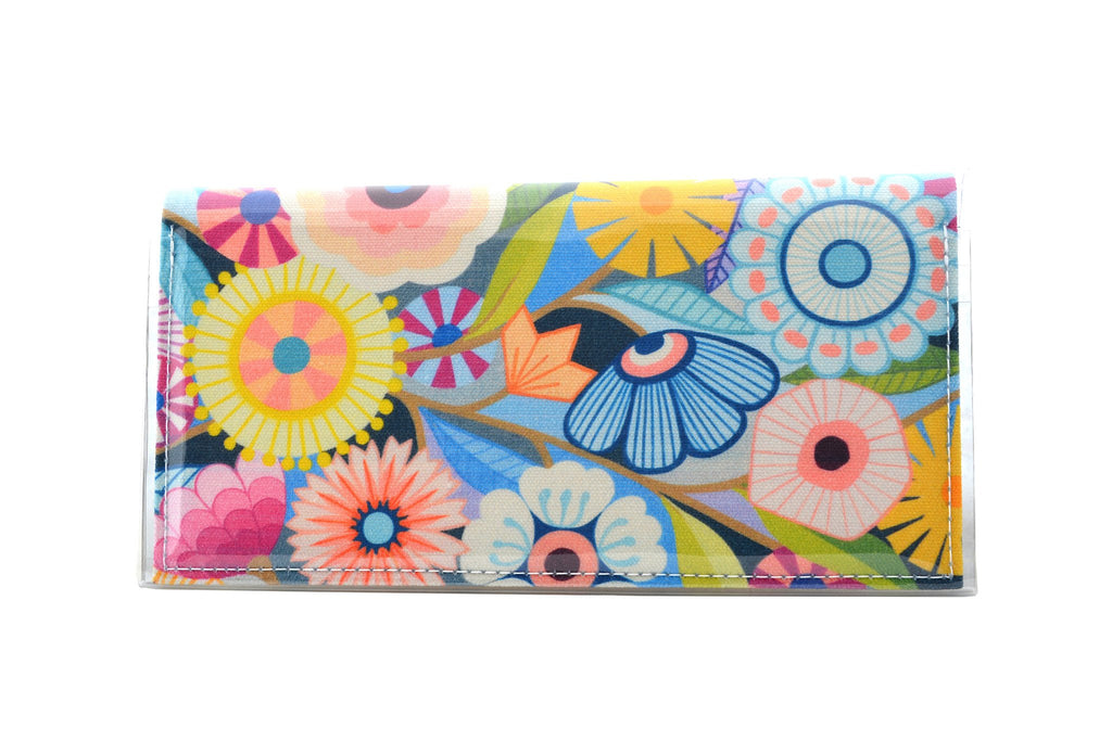KITTY CAME HOME: Bi-fold Plus Clutch - Claire Ishino / Floral Medley