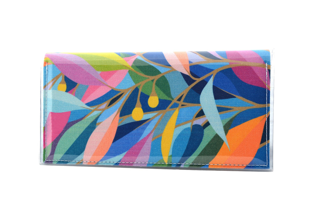 KITTY CAME HOME: Bi-fold Plus Clutch - Claire Ishino / Evening Leaves