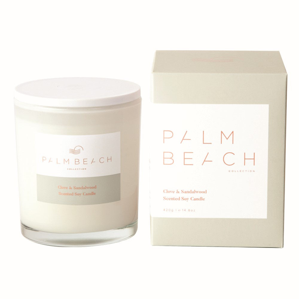 PALM BEACH: CANDLE - CLOVE & SANDALWOOD