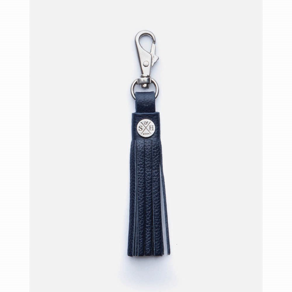 STITCH & HIDE: Leather Tassel - Navy