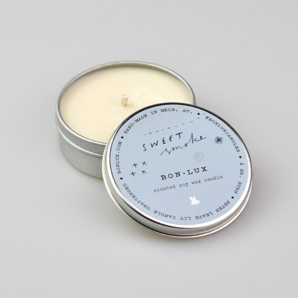 BON LUX: Travel Tin Candle - Sweet Smoke