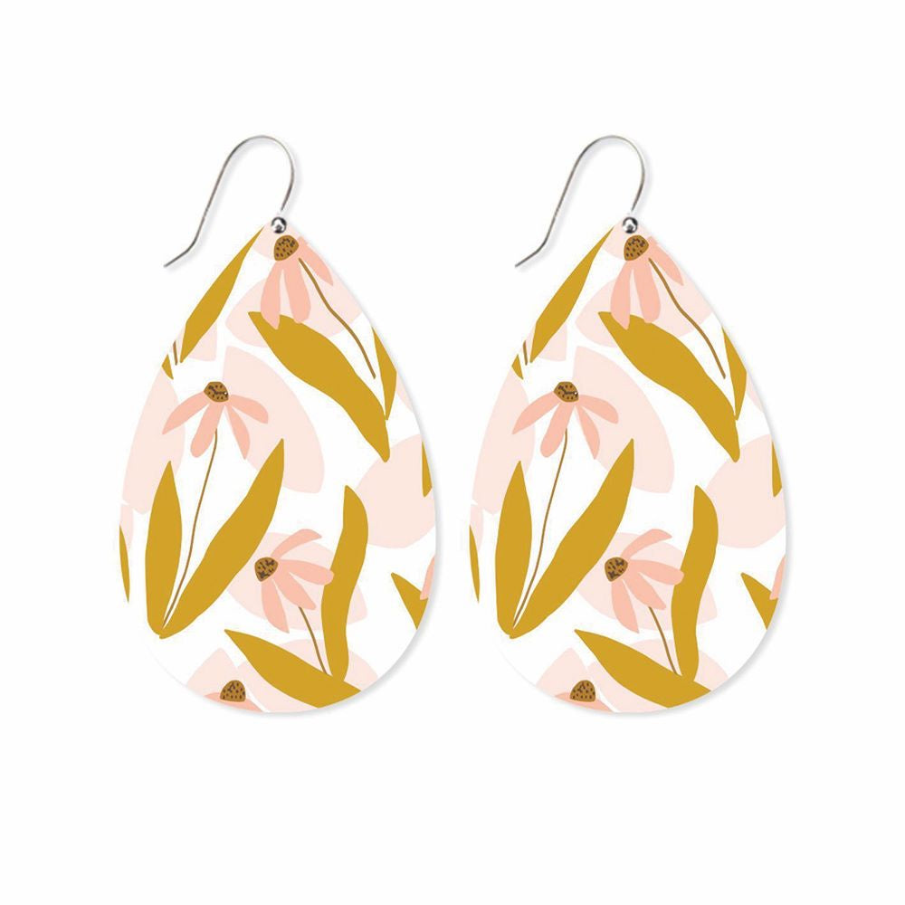 MOE MOE DESIGN: Marguerite Bloom - Big Tear Drop Earrings