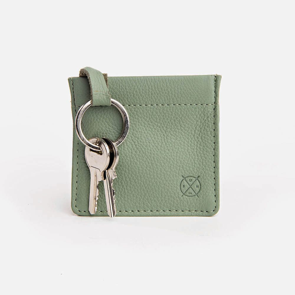STITCH & HIDE: Key Pouch - Sage