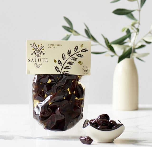 SALUTÉ OLIVA: Semi Dried  Olives