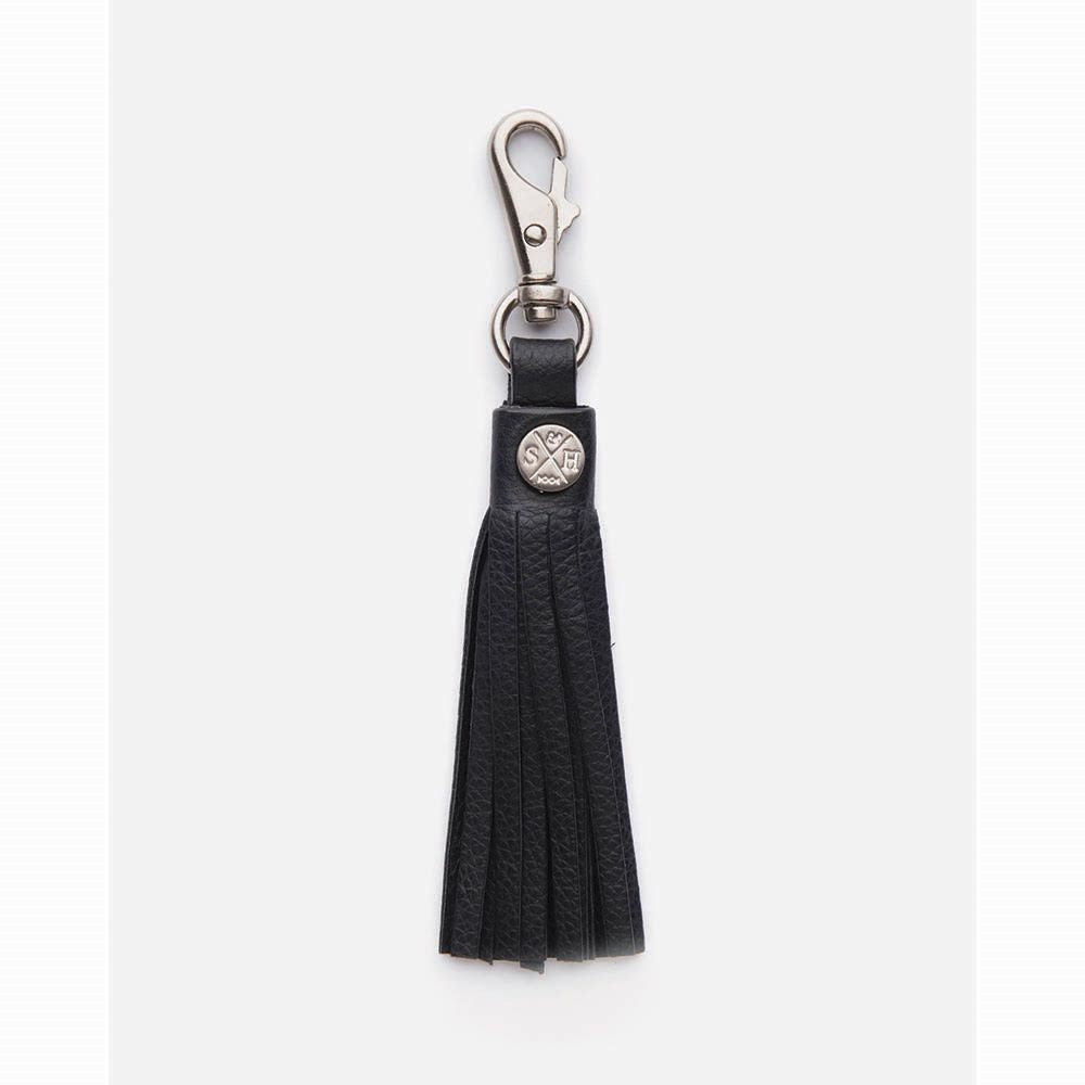 STITCH & HIDE: Leather Tassel - Black