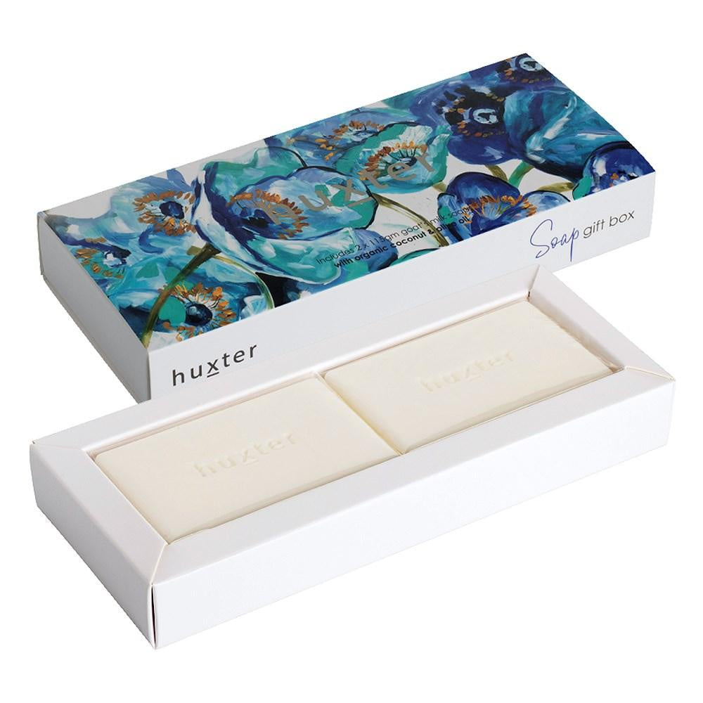 HUXTER: Soap Gift Box - Blue Poppy