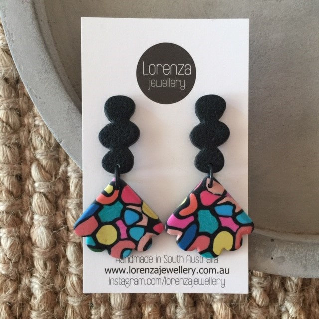 LORENZA JEWELLERY: Earrings - Stain Glass 4