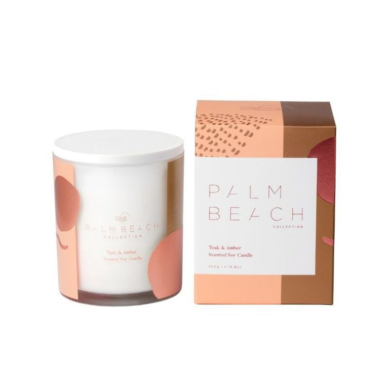 PALM BEACH: Candle - Teak & Amber