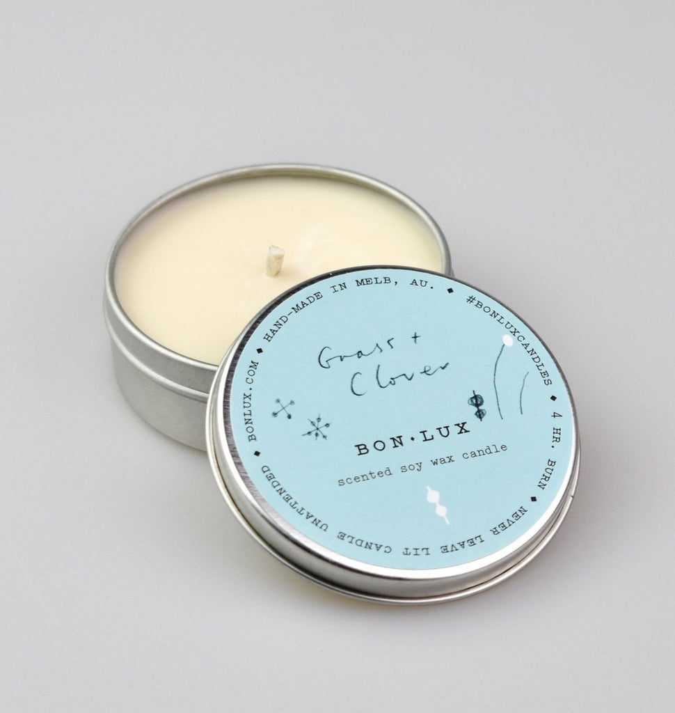 BON LUX: Travel Tin Candle - Grass + Clover