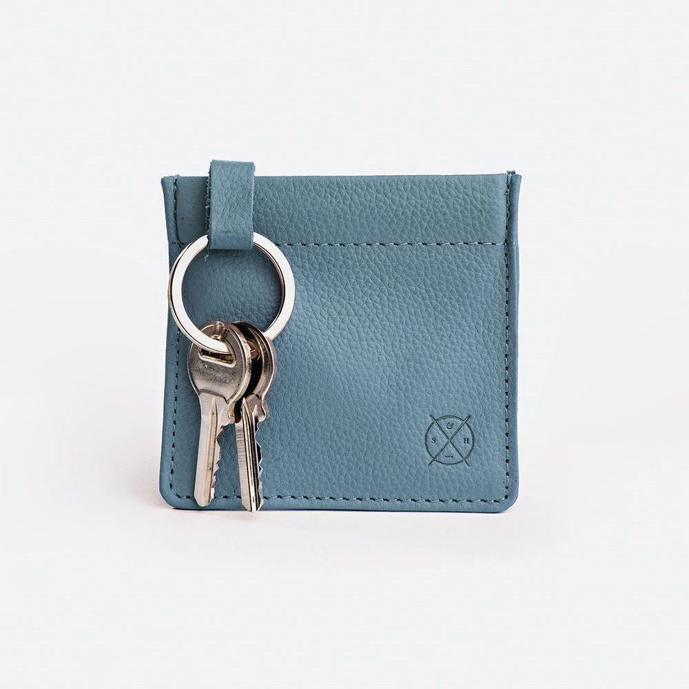 STITCH & HIDE: Key Pouch - Storm Blue