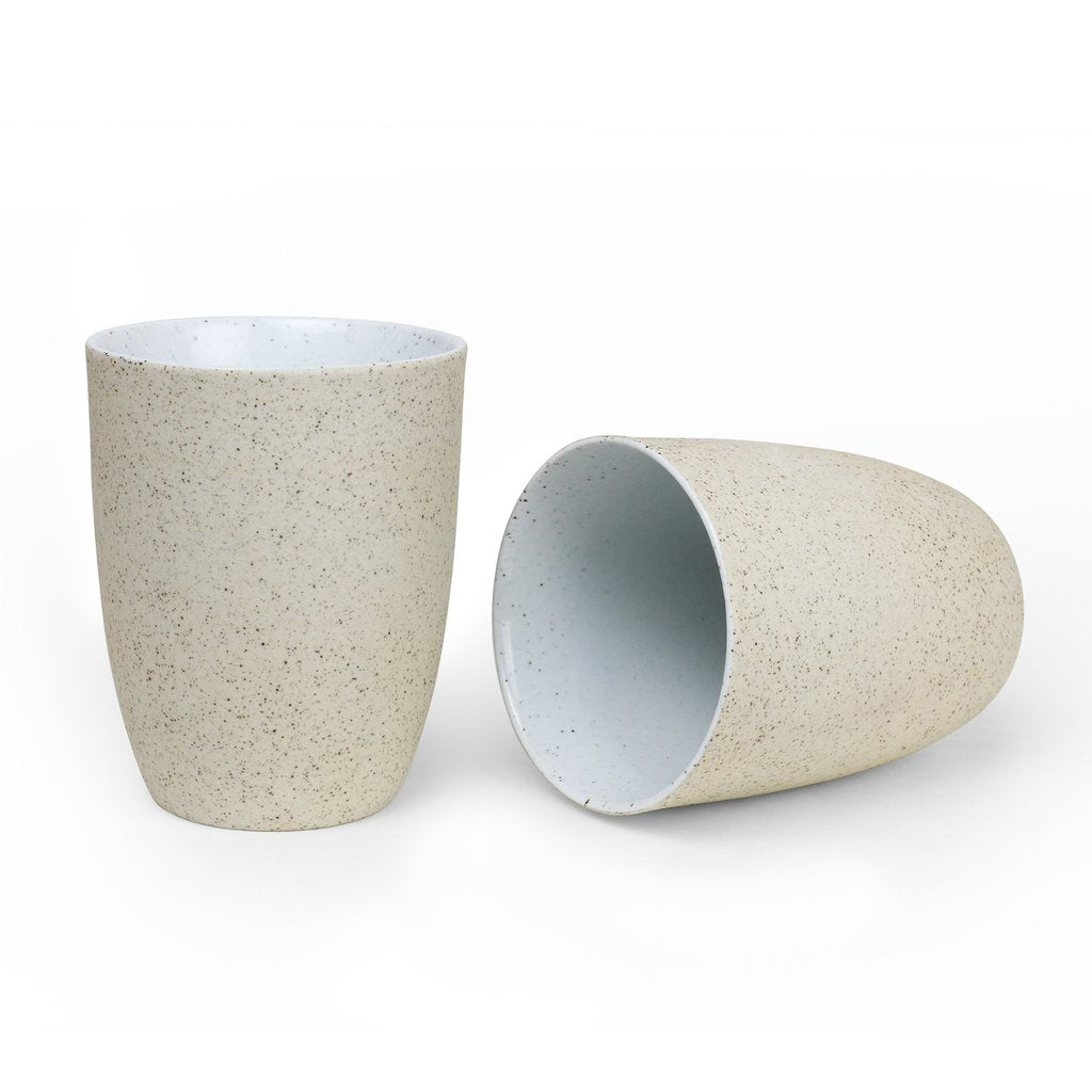 ROBERT GORDON: Granite - Latte Cup 2 Pack / White