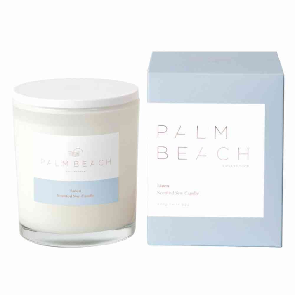 PALM BEACH: Candle - Linen