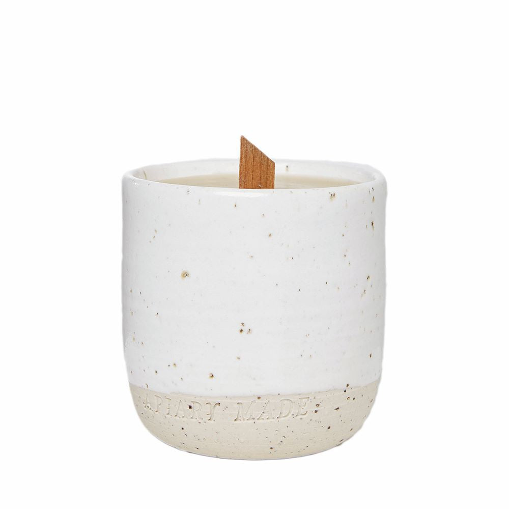 APIARY MADE: Beeswax Ceramic Candle