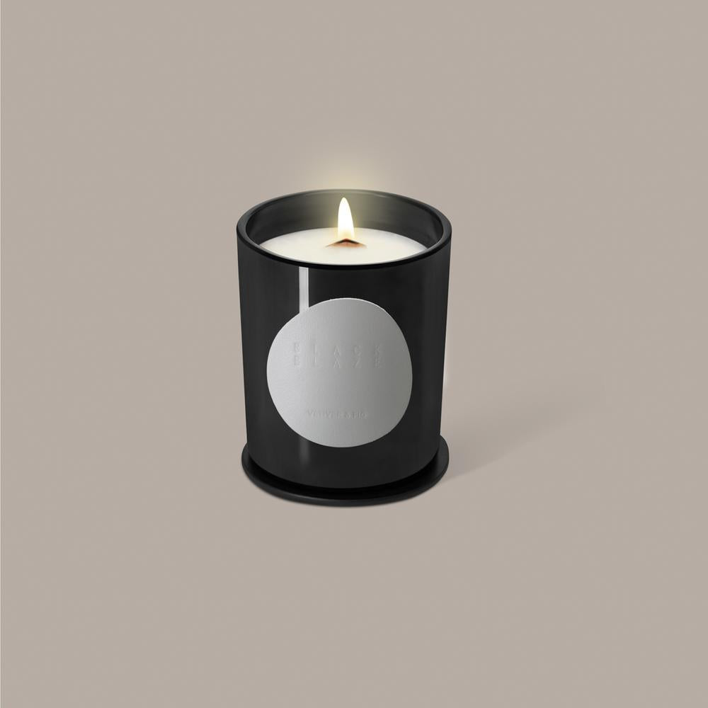 BLACK BLAZE: Scented Candle - Vetiver & Fig