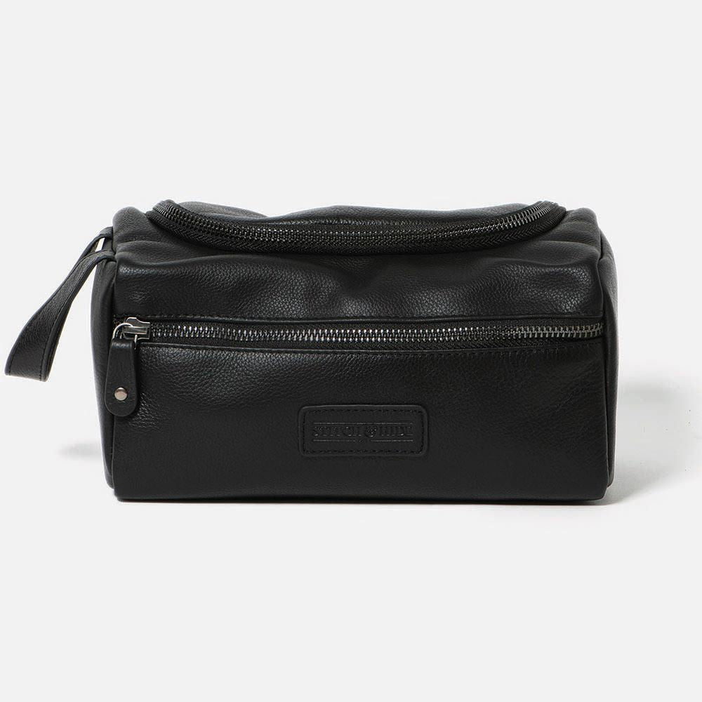 STITCH & HIDE: Jett Toiletry Bag - Black