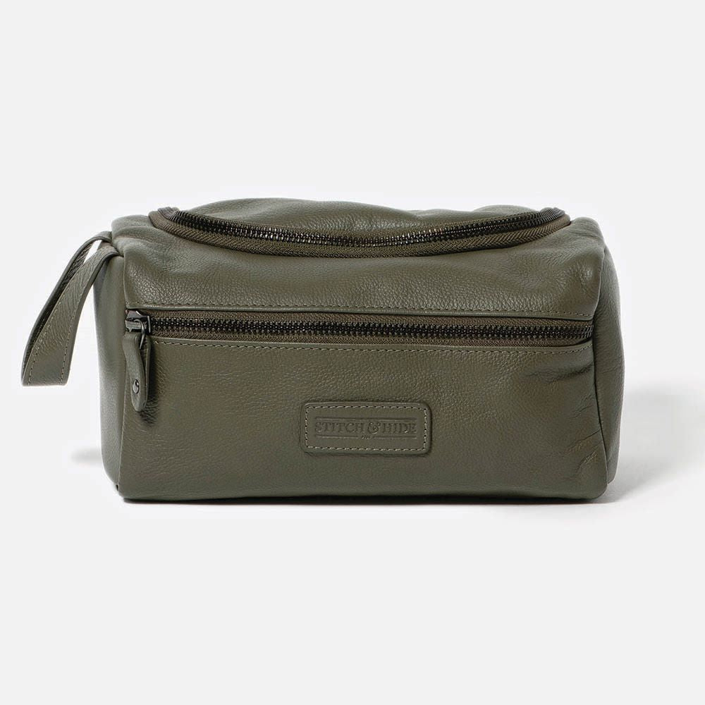 STITCH & HIDE: Jett Toiletry Bag - Olive