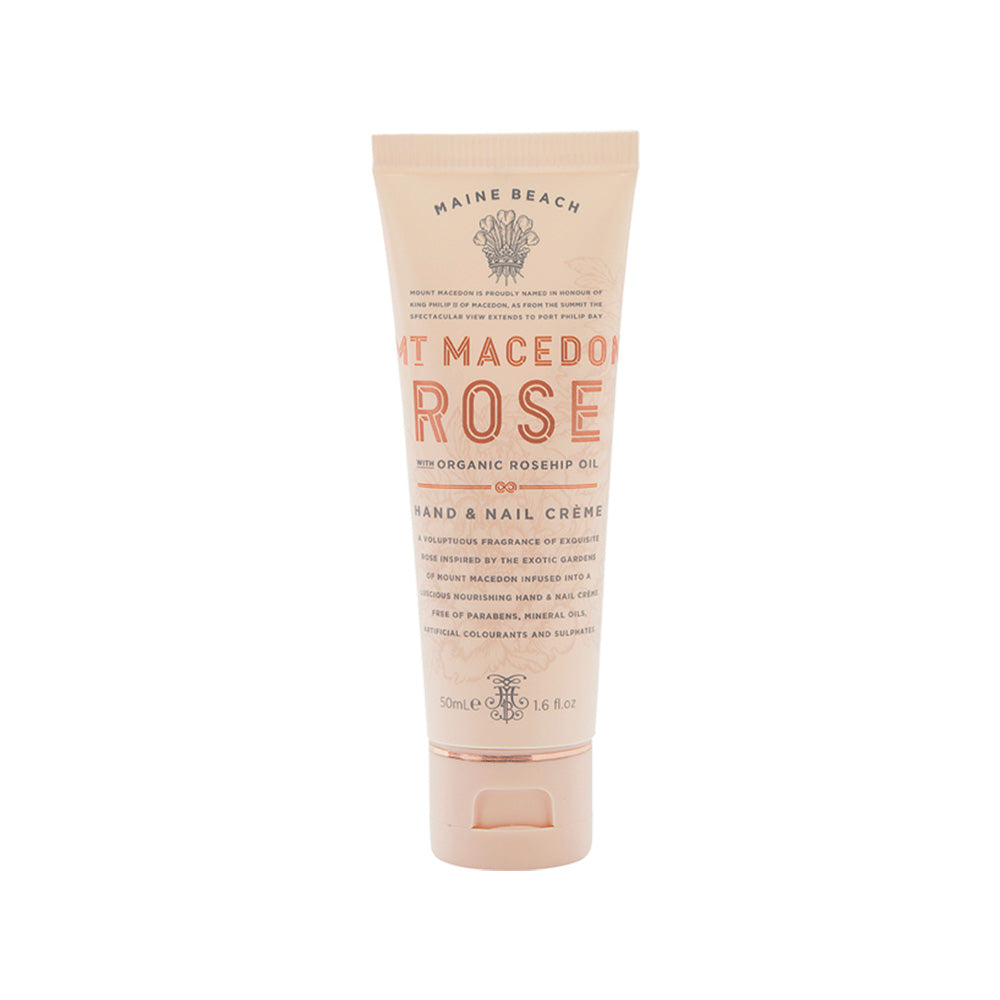 MAINE BEACH: HAND & NAIL CREME - MT MACEDON ROSE