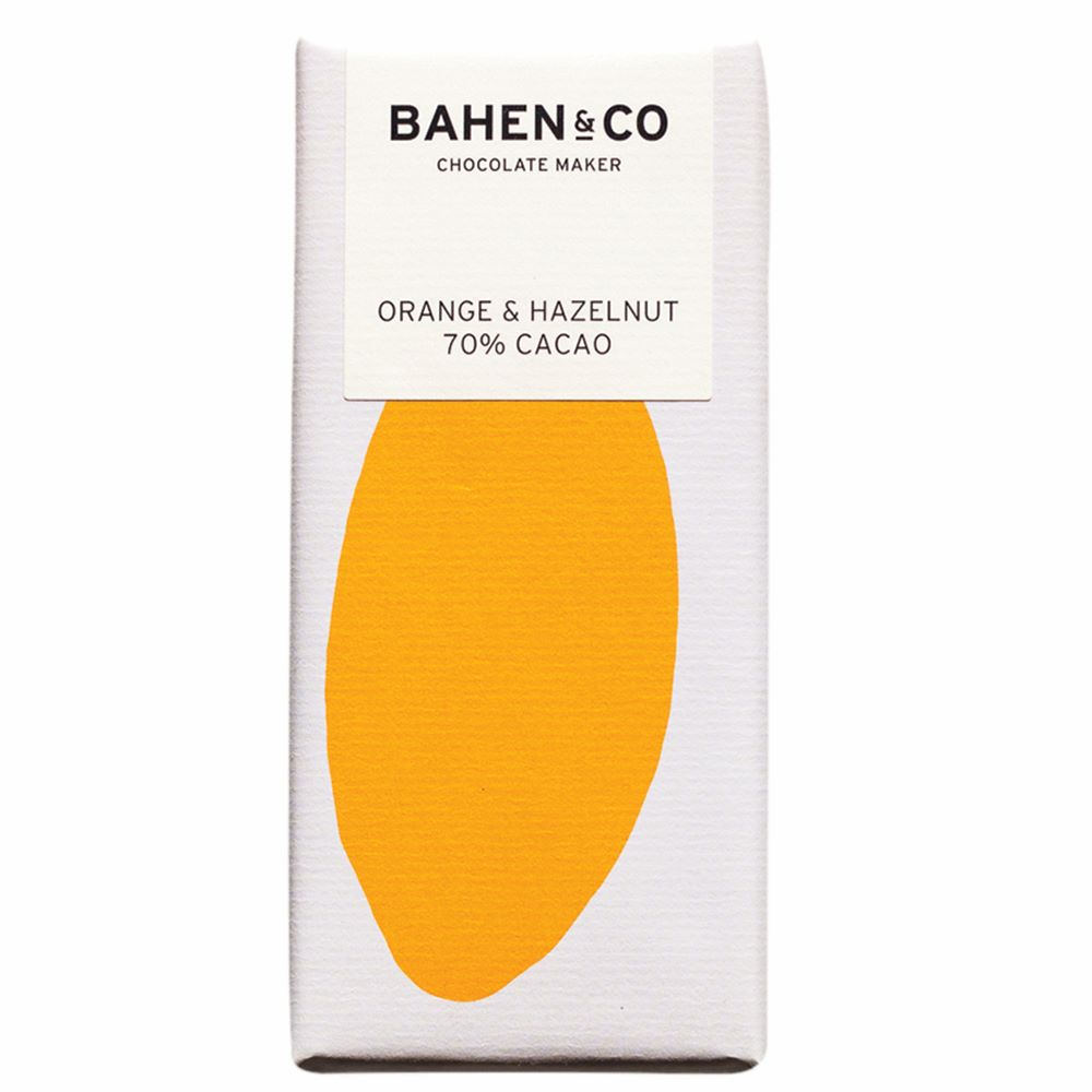 BAHEN & CO CHOCOLATE: Orange & Hazelnut