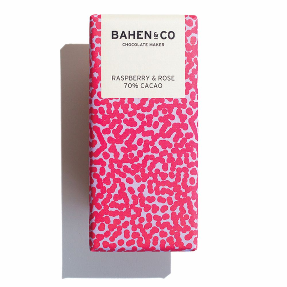 BAHEN & CO CHOCOLATE: Raspberry & Rose