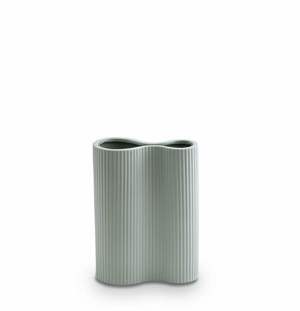 MARMOSET FOUND: Ribbed Infinity Vase Blue (S)