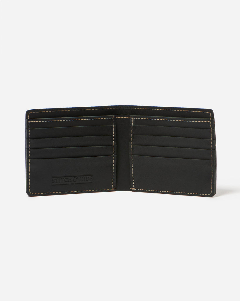 STITCH & HIDE: Connor Wallet / Black
