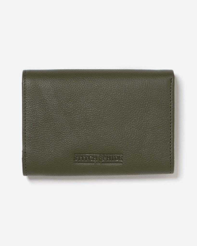 STITCH & HIDE: Ellie Wallet - Olive