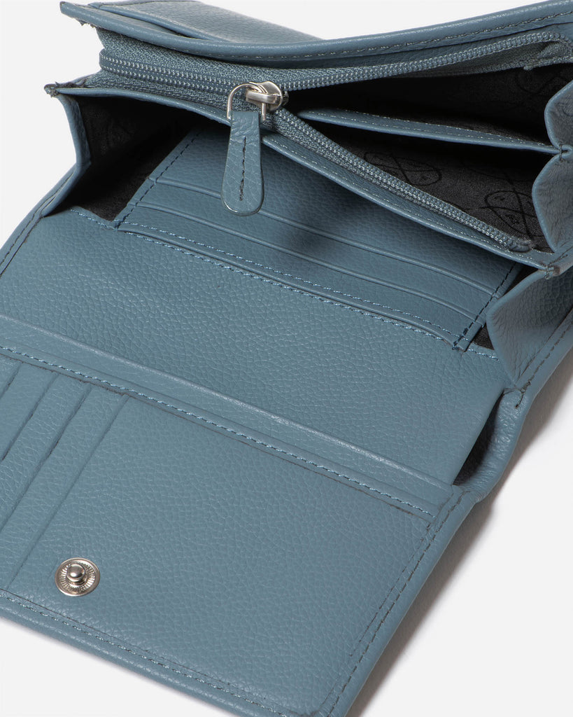 STITCH & HIDE: Ellie Wallet - Storm Blue