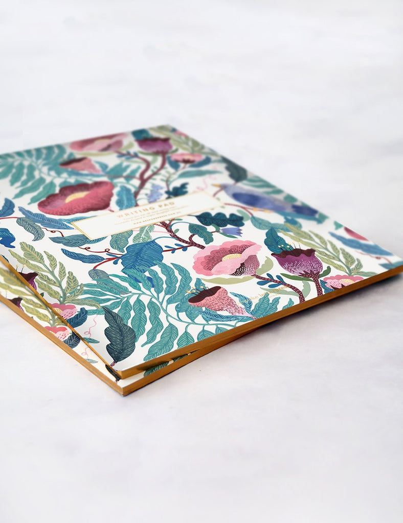 BESPOKE LETTERPRESS: Bloomstra Writing Pad - A4