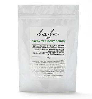 BABE AUSTRALIA: BODY SCRUB - GREEN TEA