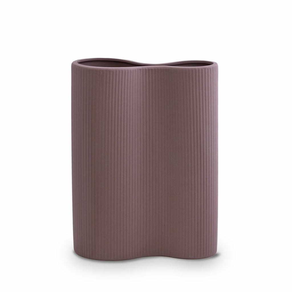 MARMOSET FOUND: Ribbed Infinity Vase Plum (M)