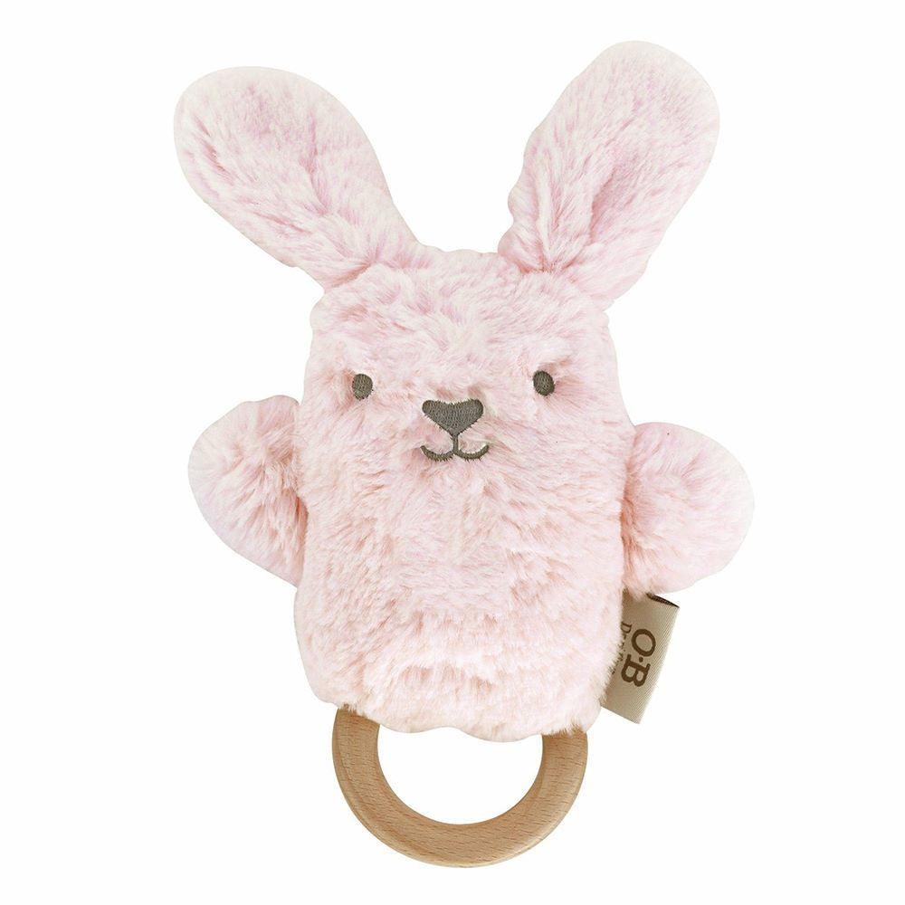 O.B DESIGNS: Wooden Teether - Betsy Bunny