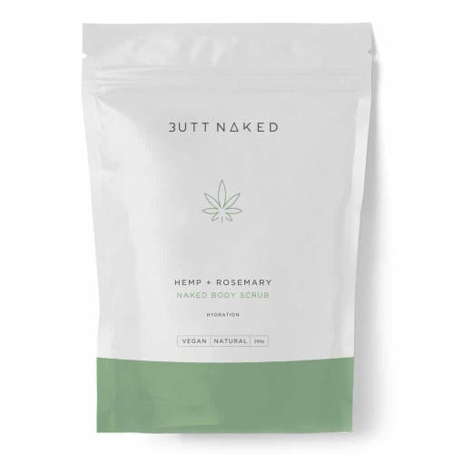BUTT NAKED: Body Scrub - Hemp + Rosemary