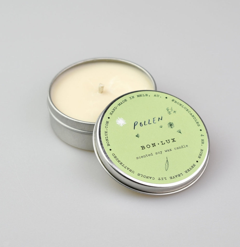 BON LUX: Travel Tin Candle - Pollen