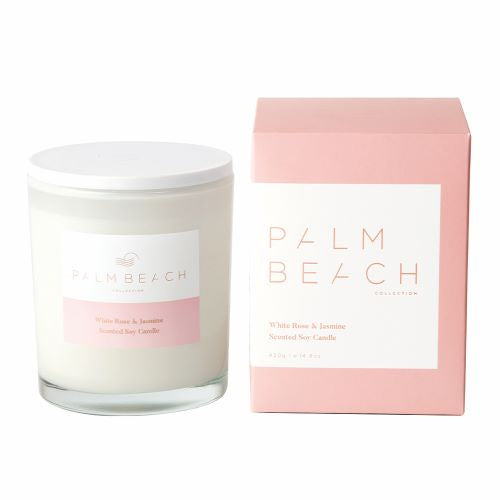 PALM BEACH: Candle - White Rose & Jasmine