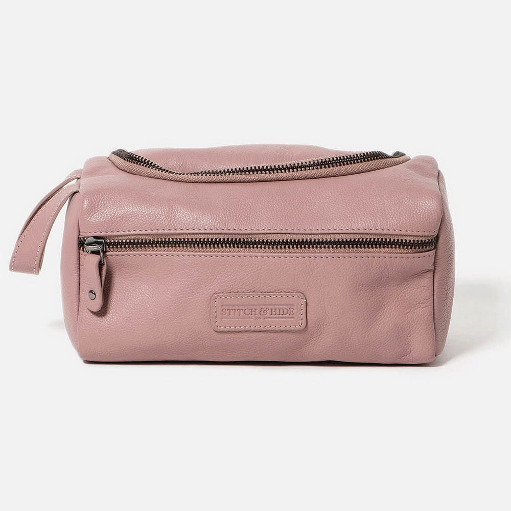 STITCH & HIDE: Jett Toiletry Bag - Dusty Rose