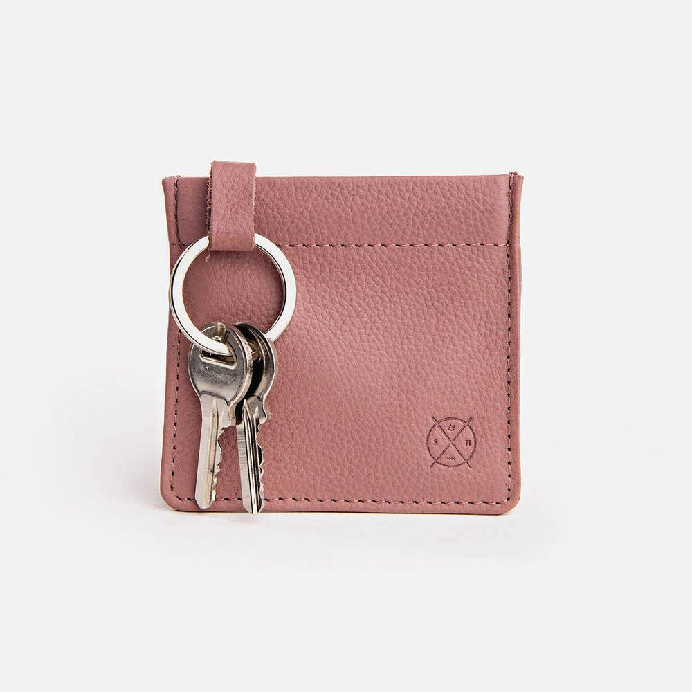 STITCH & HIDE: Key Pouch - Dusty Rose