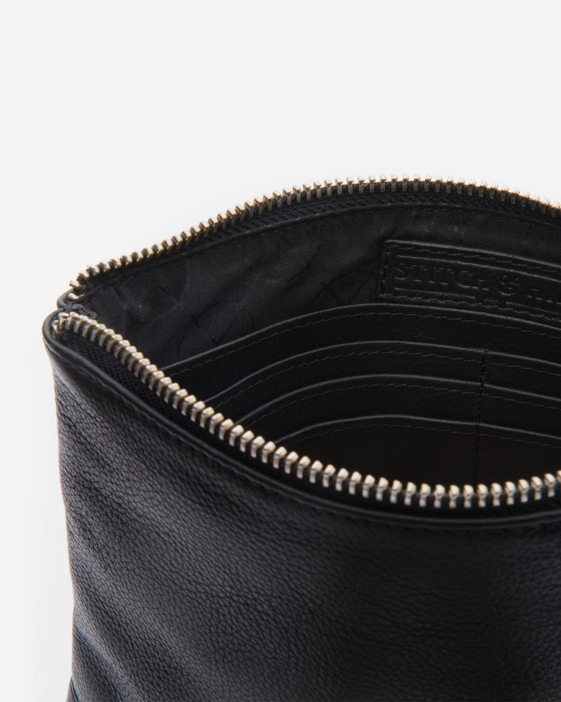 STITCH & HIDE: Cassie Clutch - Black