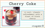 "- eVAPOR-8 PROJECT -  ""CHERRY COKE""  (100ML)"
