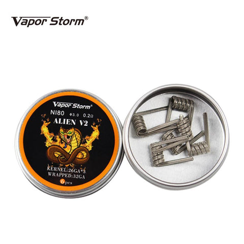 PREMIUM PRE-BUILT WIRE COILS (ALIEN VERSION 2) - 6 PCS.