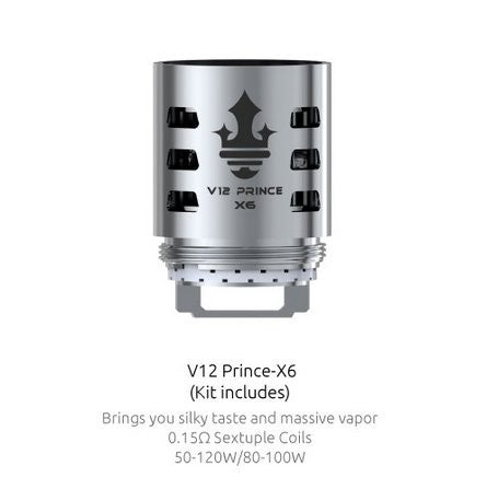Smok TFV12 Cloud Prince Replacement Coils (X6)