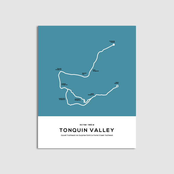 Tonquin Valley Trail Map