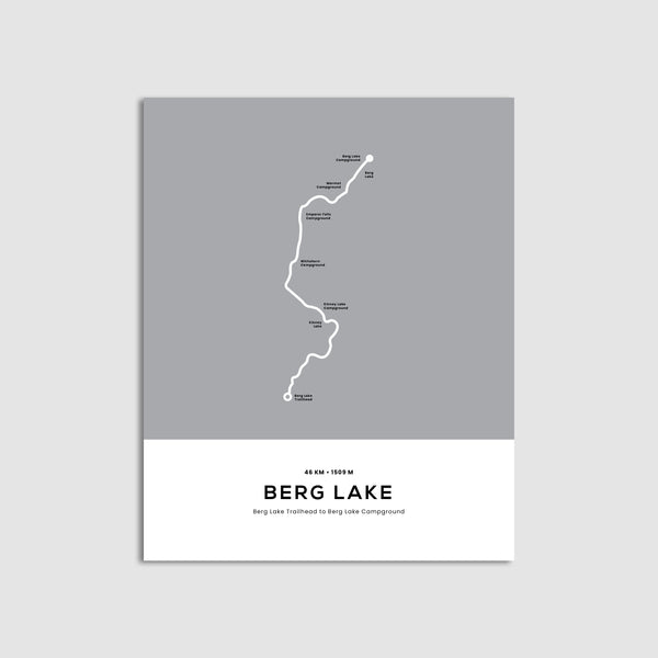 Berg Lake Trail Map