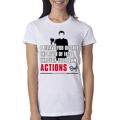 "Boyd Crowder ""Actions"" Ladies Tee"