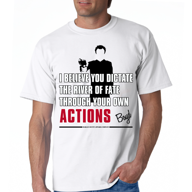 "Boyd Crowder ""Actions"" Unisex Tee"