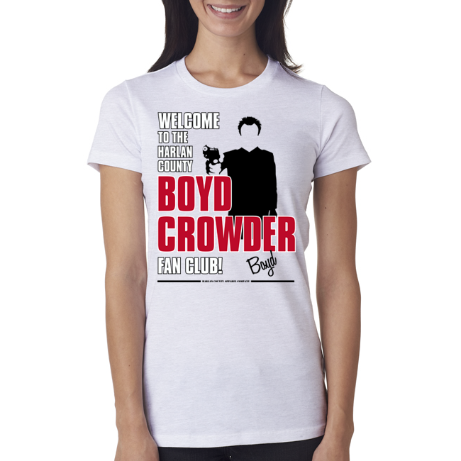 "Boyd Crowder ""Fan Club"" Ladies Tee"
