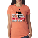 "Boyd Crowder ""Inarticulate"" Ladies Tee"